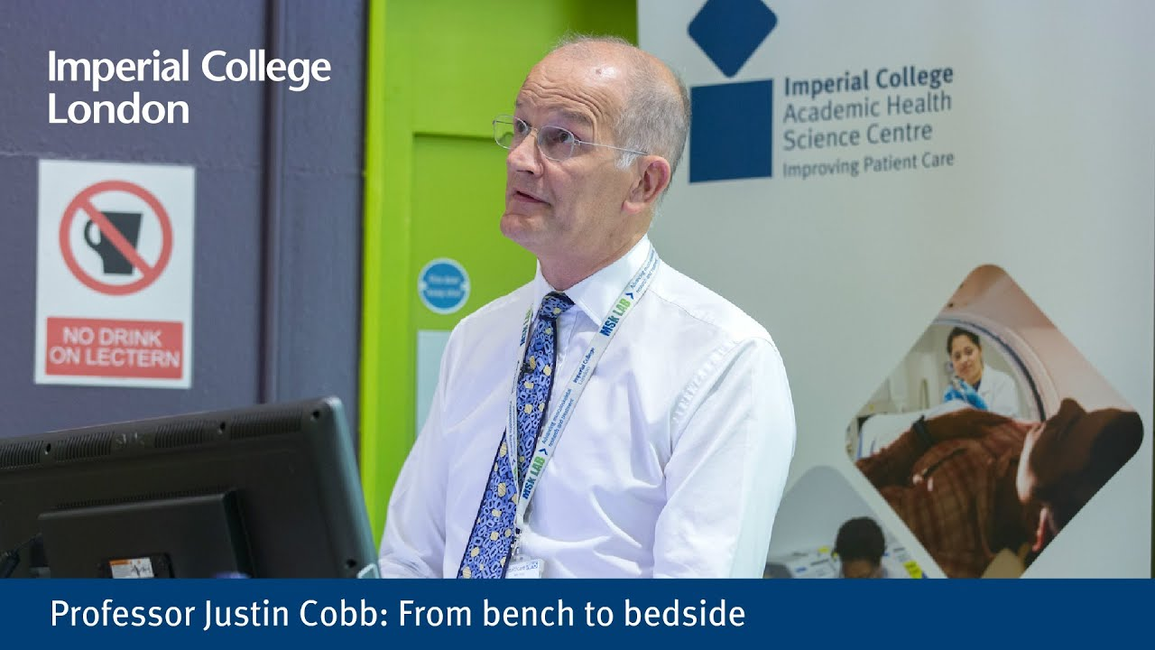 Professor Justin Cobb: From bench to bedside