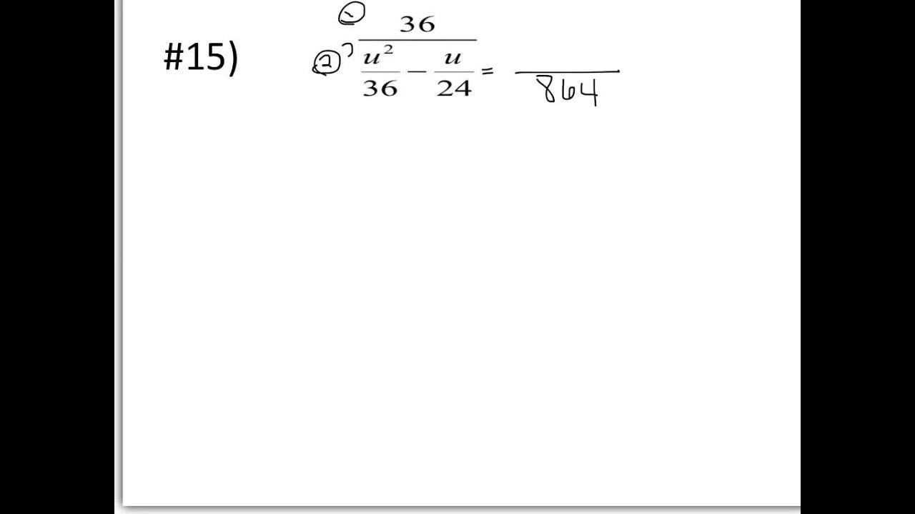 Complex Fractions Worksheet
