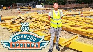 Paultons Park Tornado Springs Construction Update - August 2019