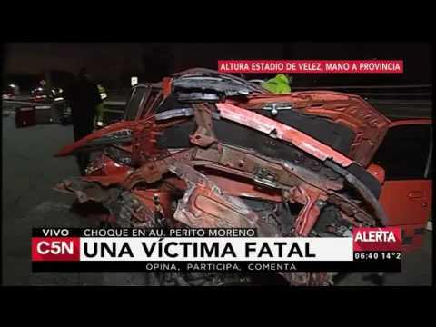 C5N - Tránsito: Una mujer murió en un choque en la AU Perito Moreno altura Barragán en Liniers