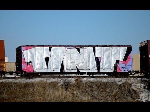 0 Apr Car >> Freight Train Graffiti Benching (Feb - Mar 2015) - YouTube