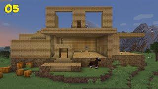 Minecraft Survival #05 - Construindo a Minha Casa Gigante