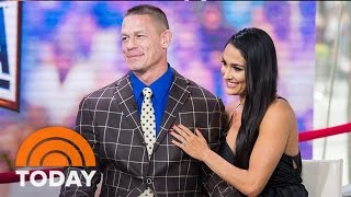 John Cena And Nikki Bella On Their Wedding Plans Following Wrestlemania Engagement | TODAY