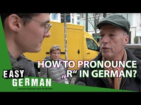 "How to pronounce ""R"" in German 