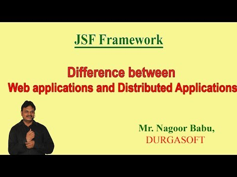 Difference Between Web applications and Distributed Applications (JSF)