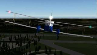 X plane 9 Double Decker from Brussels to Charleroi