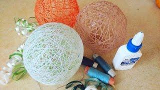 как сделать поделку из ниток и шарика