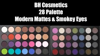 bh cosmetics modern mattes smokey eyes swatches