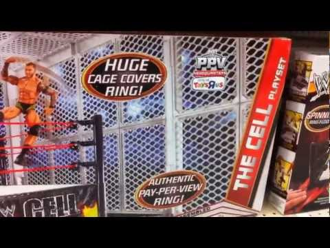 WWE ACTION INSIDER: THE CELL At Toys R Us Figure Aisle Mattel Figures