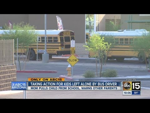 Kids left alone by bus driver