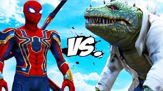 IRON SPIDER VS THE LIZARD - EPIC BATTLE