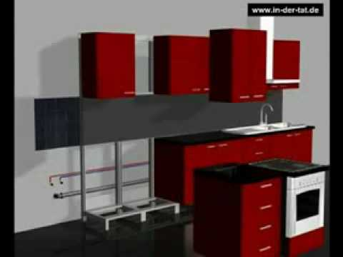 selbst k chenmontage in 180min z b quelle k chen quelle k che youtube. Black Bedroom Furniture Sets. Home Design Ideas