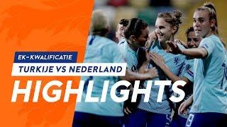 Highlights Turkije - OranjeLeeuwinnen (8/11/2019) EK-kwalificatie