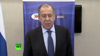 Пресс-подход Лаврова по итогам заседания СМИД ОЧЭС в Баку