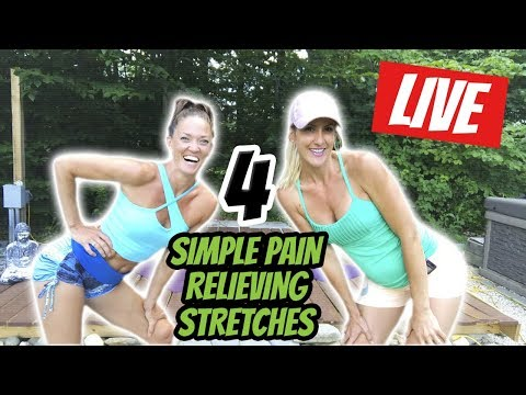 4 Simple Pain Relieving Stretches  — LIVE with Dancinbecka