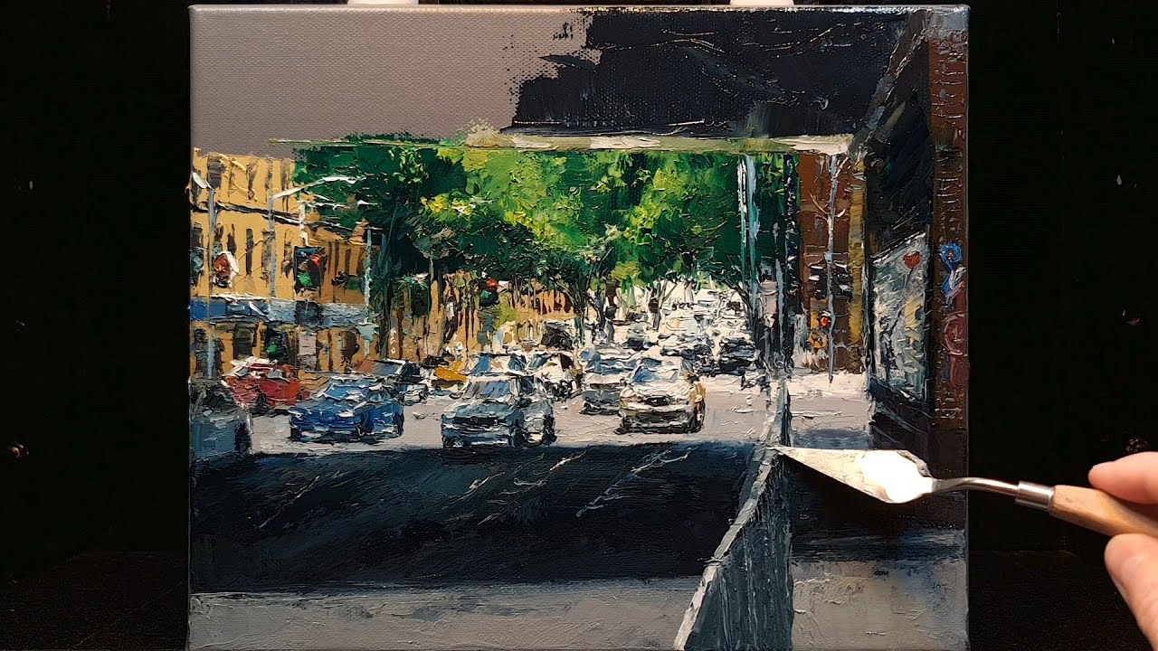 Light and Shadow - Palette Knife | Brush Oil Painting