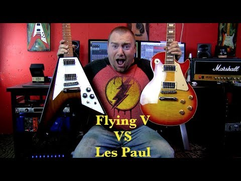 Gibson Flying V VS Gibson Les Paul