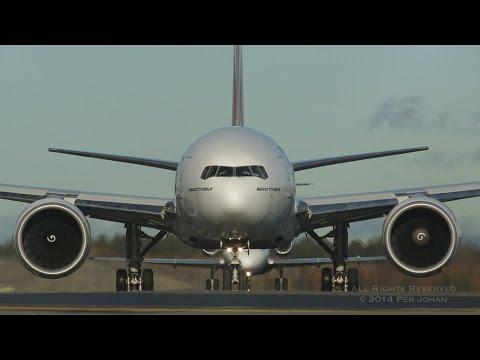 Emirates Boeing 777 landings and takeoffs at OSL