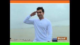 TV actor Sharad Malhotra celebrates Independence Day with INS Mumbai
