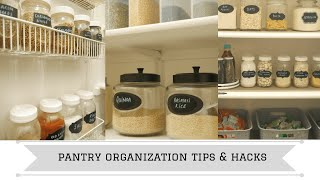 Pantry Organization Tips and Hacks | Pantry Organization Ideas