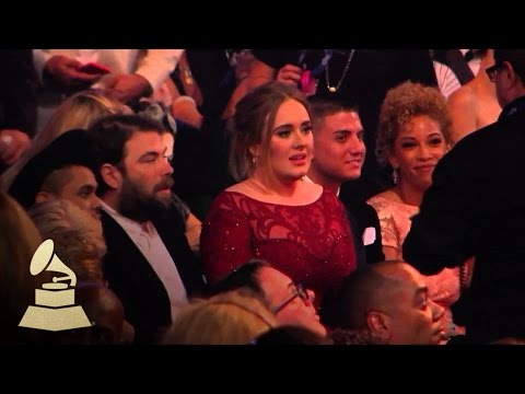 Adele & The Weeknd  Audience Cam  58th GRAMMYs