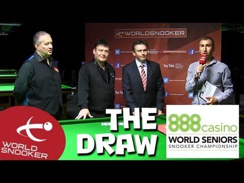 888Casino.com Senior World Championship Draw
