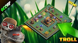 Clash Of Clans 💥BUILDER HALL 4 BASE 💥BH4 EPIC TROLL BASE