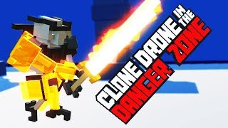 THE ARMORED ROBOT WARRIOR! NEW Endless Mode RECORD! - Clone Drone in the Danger Zone Gameplay