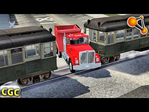 Subway Train railway crossing Crashes BeamNg Drive Part 2 #6