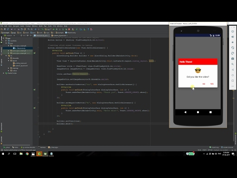 Custom AlertDialog In Android
