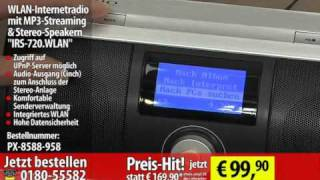 WLAN-Internetradio mit MP3-Streaming & Stereo-Speaker
