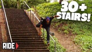 30+ STAIRS! Skateboarding Slam - David Loy