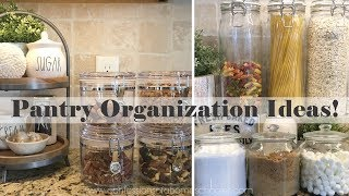 DIY Home Pantry Organization Ideas!