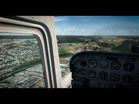 [FSX] Landing at Luxembourg airport (ELLX) with vfr cessna