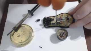 Ремонт кнопки мыши - A4tech X7 замена кнопки (микрик)(А в этом видео меняем скролл (Колесо прокрутки) - https://www.youtube.com/watch?v=VgpoK... А здесь микрики OMRON D2FC-F-7N и ТТI ..., 2013-03-07T02:44:47.000Z)