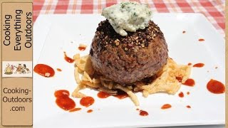 Pepper Crusted Filet Mignon Burger recipe