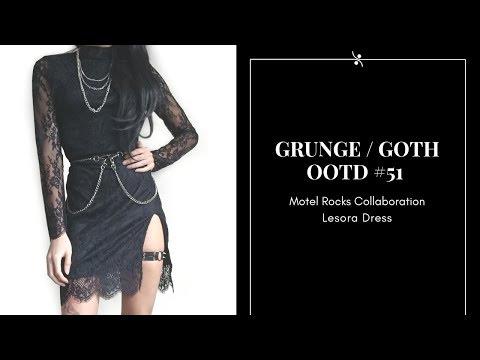 Grunge / Goth OOTD #51 ~ Motel Rocks Collaboration ~ Lesora Dress