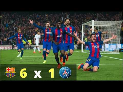 Barcelona 6 - 1 PSG - Todas las Narraciones
