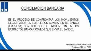 CONCILIACIÓN BANCARIA CON EJERCICIO PRACTICO.