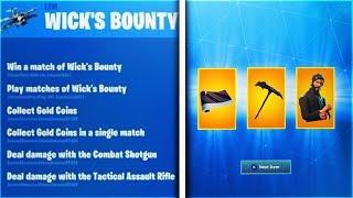 How To Unlock! Wicks Bounty Free REWARDS! in Fortnite Wicks Bounty Challenges (Free Rewards)