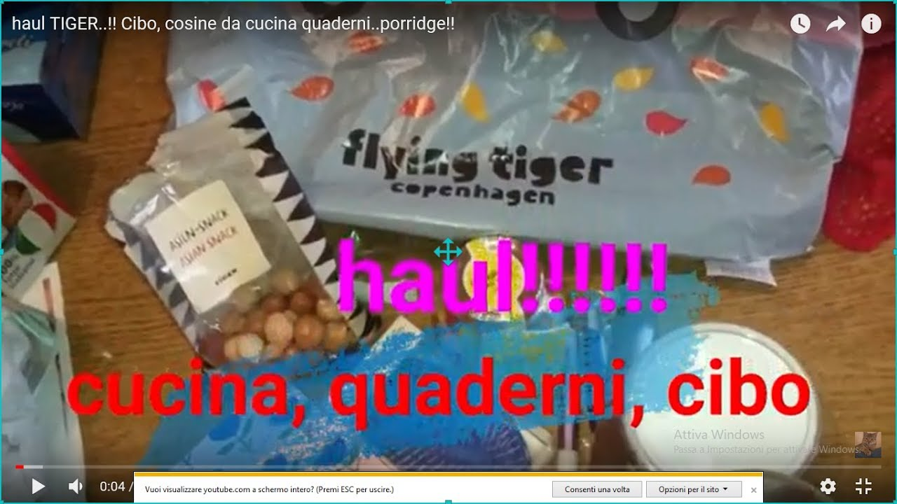 more photos c6f67 a8f37 haul TIGER..!! Cibo, cosine da cucina quaderni..porridge!!