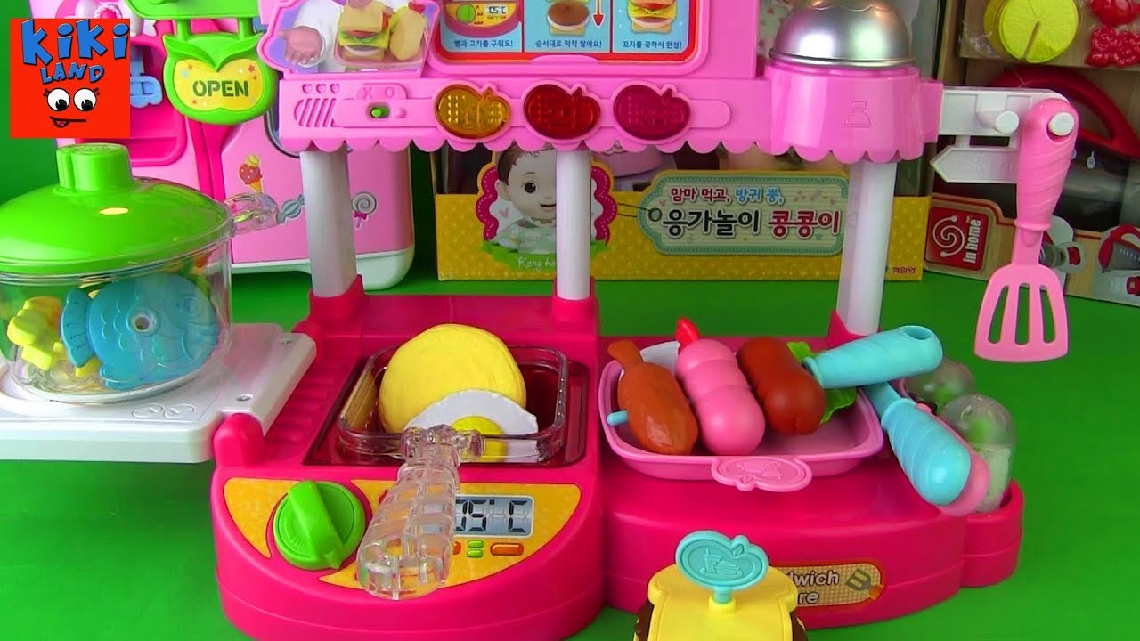 Kitchen And Sandwich Store Korean Kids Toy By Kikiland Youtube