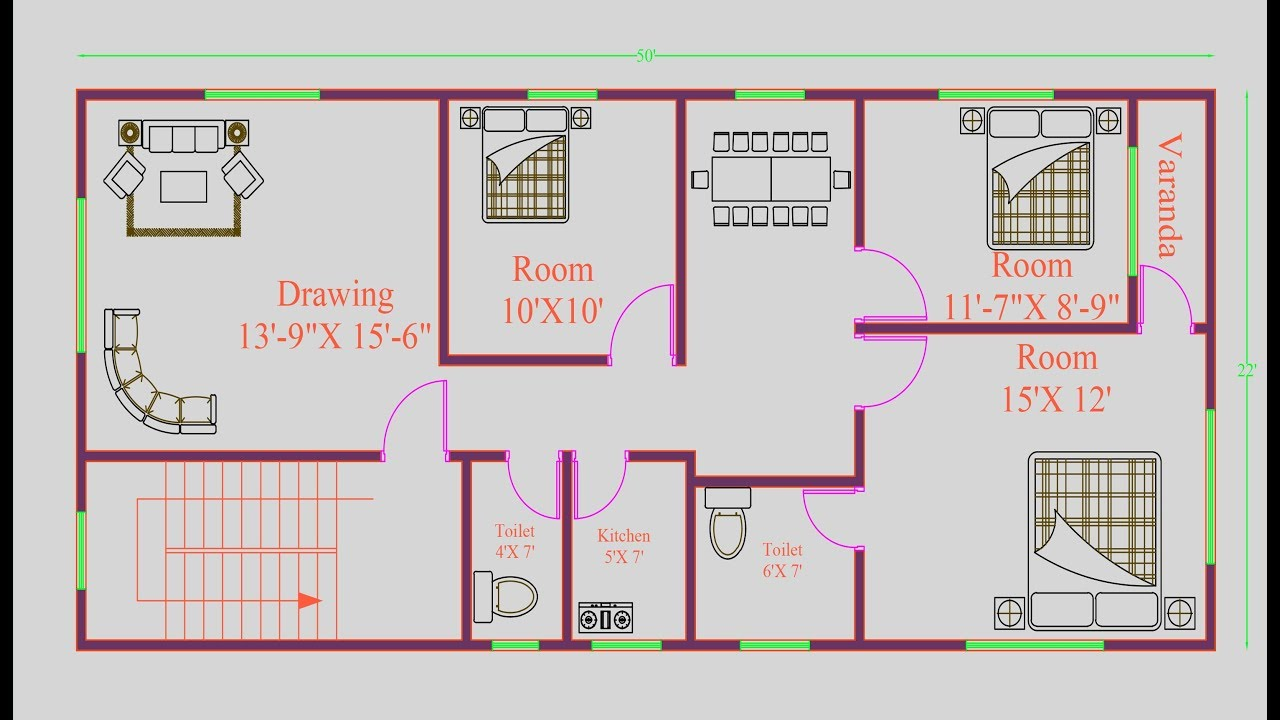 House Drawing Plan Layout