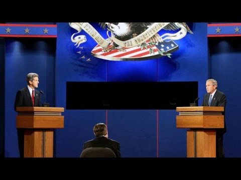 George W. Bush and John Kerry 1st Presidential Debate 2004
