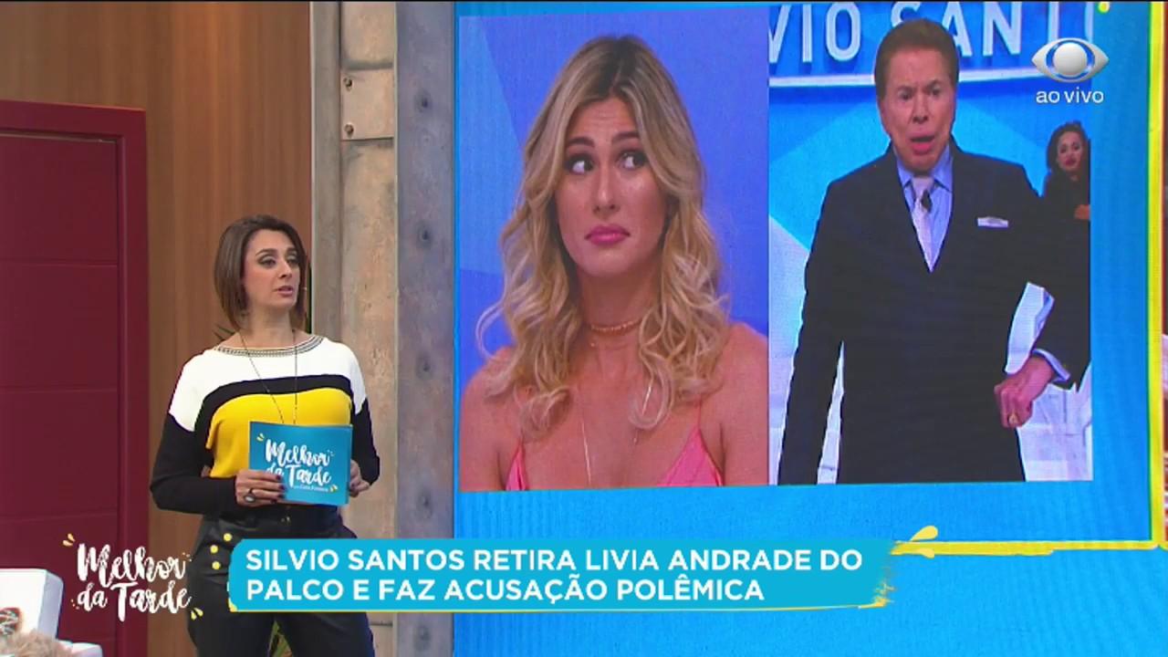 Download Silvio Santos retira Lívia Andrade do palco e faz acusação