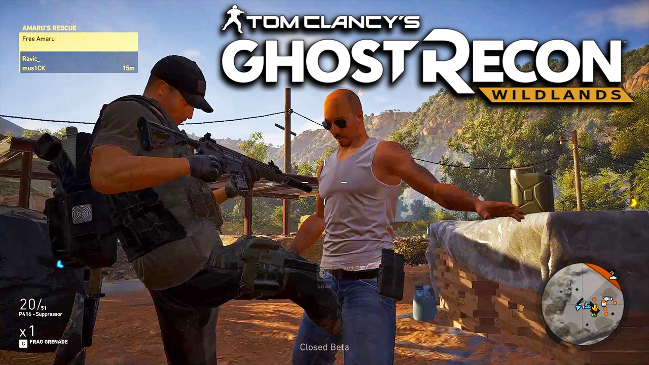 Ghost Recon Wildlands Beta Funny Moments + Exploring Map - YouTube