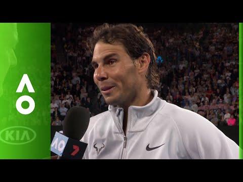 Rafa Nadal on court interview (1R) | Australian Open 2018
