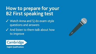 FB Live How to prepare for your B2 First Speaking Test