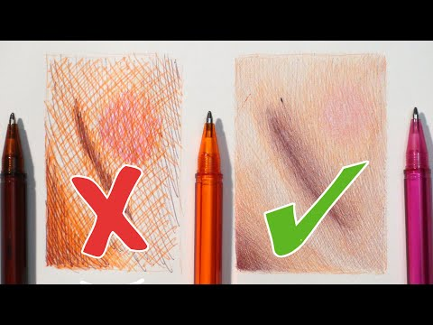DO'S AND DON'TS - HOW TO DRAW REALISTIC SKIN TONE | BALLPOINT PENS