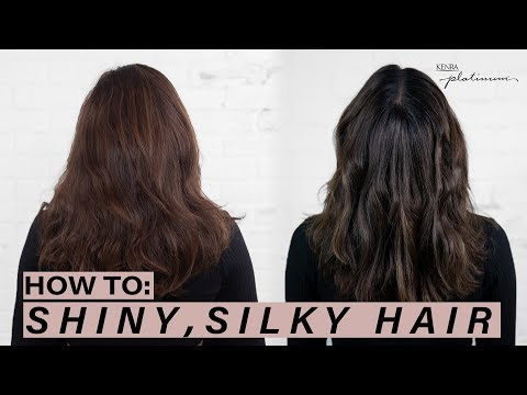 HOW TO: Silky, Shiny Hair + Flat Iron Curling Tips | Kenra Platinum